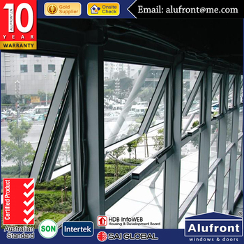 Electric Opening Aluminum Awning Window/Aluminum Top Hung Window