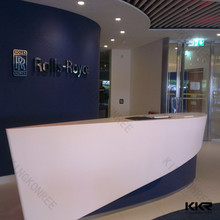 solid surface stone reception beauty salon reception desks