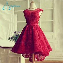 Red Lace Appliques Bandage Sexy Free Prom Dress