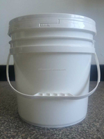 plastic bucket 15 liter for paint,grease,water