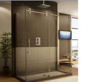 Powerful manufacturer supplier stainless steel fibreglass sliding steam shower cubicle