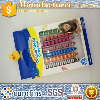 Rainbow color 2 sides gel wax crayon bulk painting shin chan