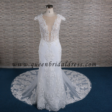Lace Appliques Mermaid Wedding Dress Patterns Trumpet Wedding Gown
