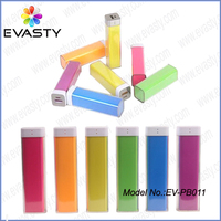 (Cheapest price) Colorful Lipstick Power Bank rechargeable power charger 2200mAh 2600mAh for Chrismas gifts