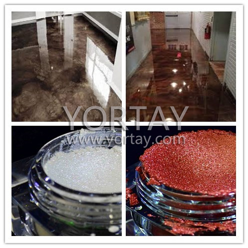 silver white pearl pigment metallic epoxy 3d floor pigment for floor coating powders