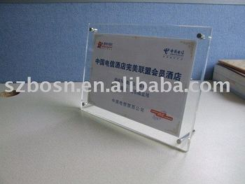 Acrylic Authorization Token,Perspex Sign Block,Lucite Leaflet Display