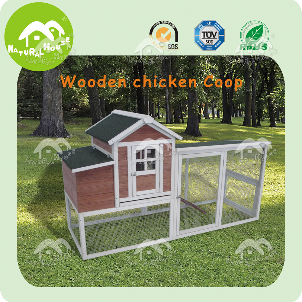 Hot-sale large wooden chicken coop hen house with run