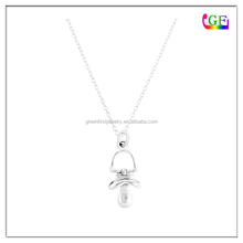 New 18k White Gold Plated Nipple pendant necklace