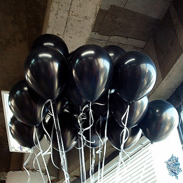 20pcs/lot 10inch 1.5g Black Latex Balloons Air Balls Inflatable Wedding Party Decoration Birthday Kid Party Float Balloons Toys