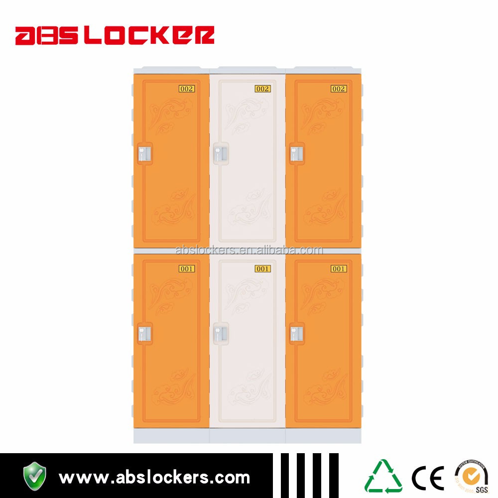 chocolate colors two-tire ABS plastic lockers and lock for swimming pool