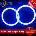 12V 80mm 100mm 160mm COB Angel Eyes Multi-Color RGB LED Halo Rings