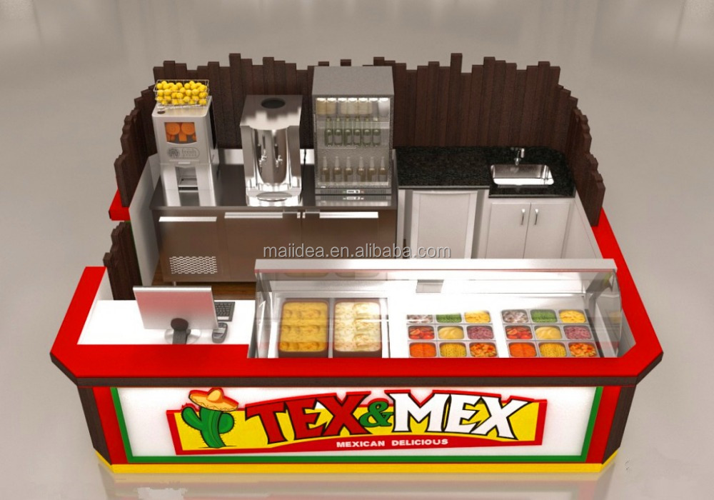 China kiosks manufacturer Mexico tacos food kiosk for sale