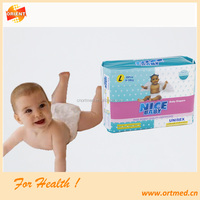 Fluff pulp ultra thin and super dry surface baby diaper