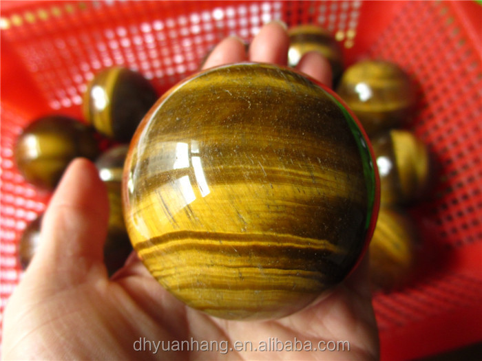 50-80mm golden tiger stone sphere, natural tiger eye crystal sphere ball