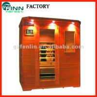 Multi-user outdoor infrared sauna room