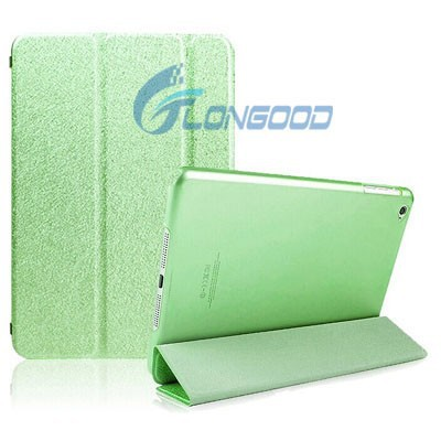 Smart Foldable PU Leather Translucent Silk Print Cases For iPad 6 Ipad Air 2