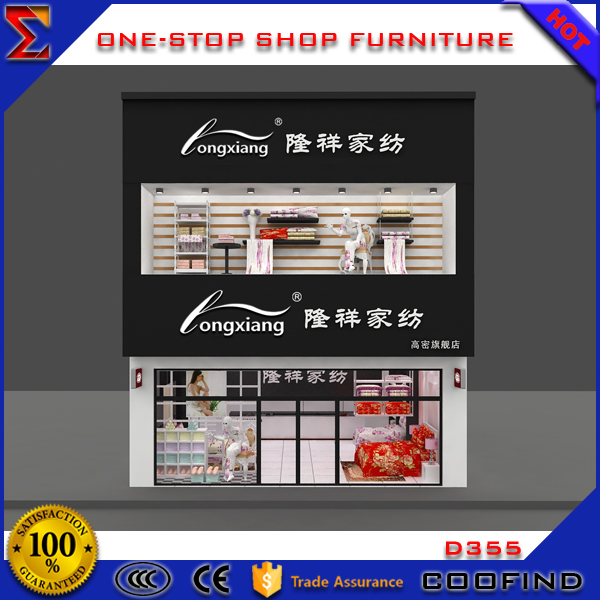 Customized wooden textile shop design furniture