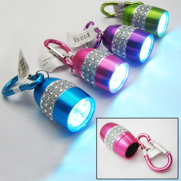 Nugget Bling Rhinestone Brightest LED Flashlight Color Available