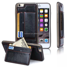 TPU mobile phone case with card slots stand for iphone 5 5c 5s
