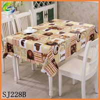 Shuangjie Cheap PVC Lace Edge Table Cloth Factory with Flannel backing