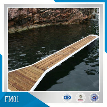 Nylon Protectors Availabled Hot Dipped Galvanized Marina Finger Dock with hardwood decking,