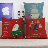 Christmas gift Santa Claus snowman Bell pattern cushion cover sofa throw pillow case