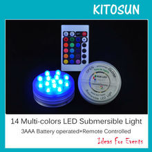 NEW!!!multi-colors LED Submersible floralyte base for furniture table
