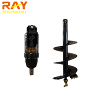 hydraulic auger soil drilling hole digging tools