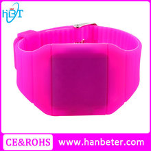 Silicone rubber watch band big plastic case face cheap paypal watch