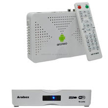 Best arabic iptv set top box arabox with over 450 hd channel 1 year free apk account