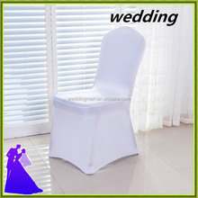 Wedding decoration lycra chair cover white with arch wholesale price