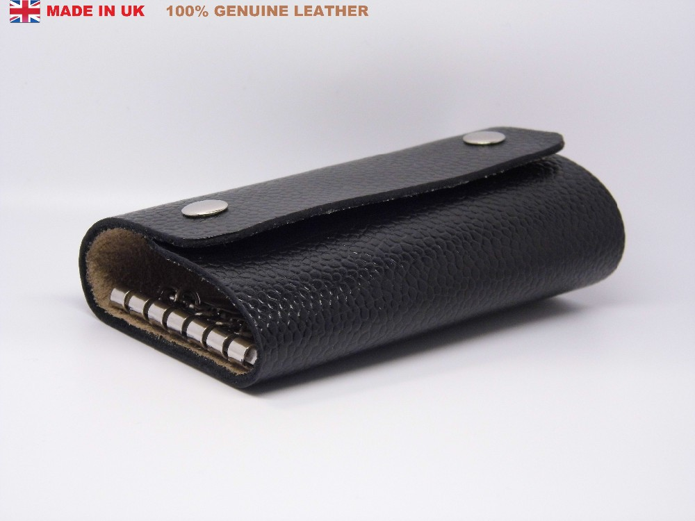 Key Holder Case New Black Colour Genuine Real Leather for Men Women Accessories