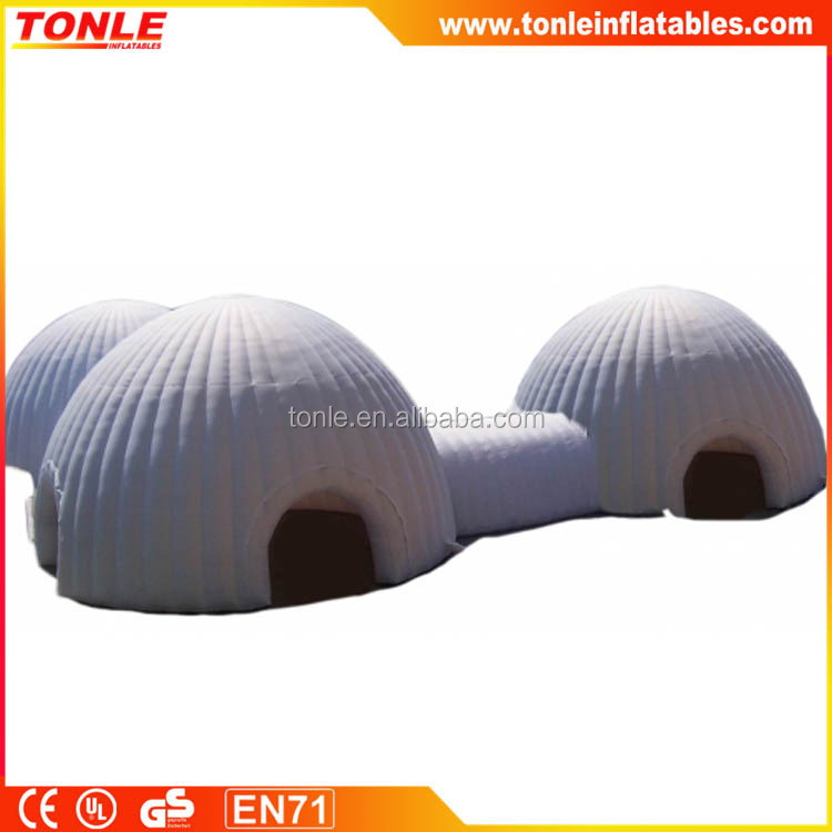 Inflatable Igloo Building Tent, Inflatable Dome Camping Tent for sale, Giant Inflatable Ground Air Building