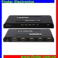 Real Version V1.4 HDMI Splitter, 1x4 Distributor Supporting Full 3D & 4Kx2K
