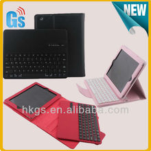 New Arrival Wireless Detachable Bluetooth Keyboard Leather Case For Ipad 2/3/4