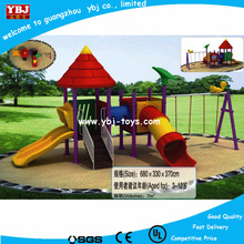 outdoor playground plastic slide and swing set