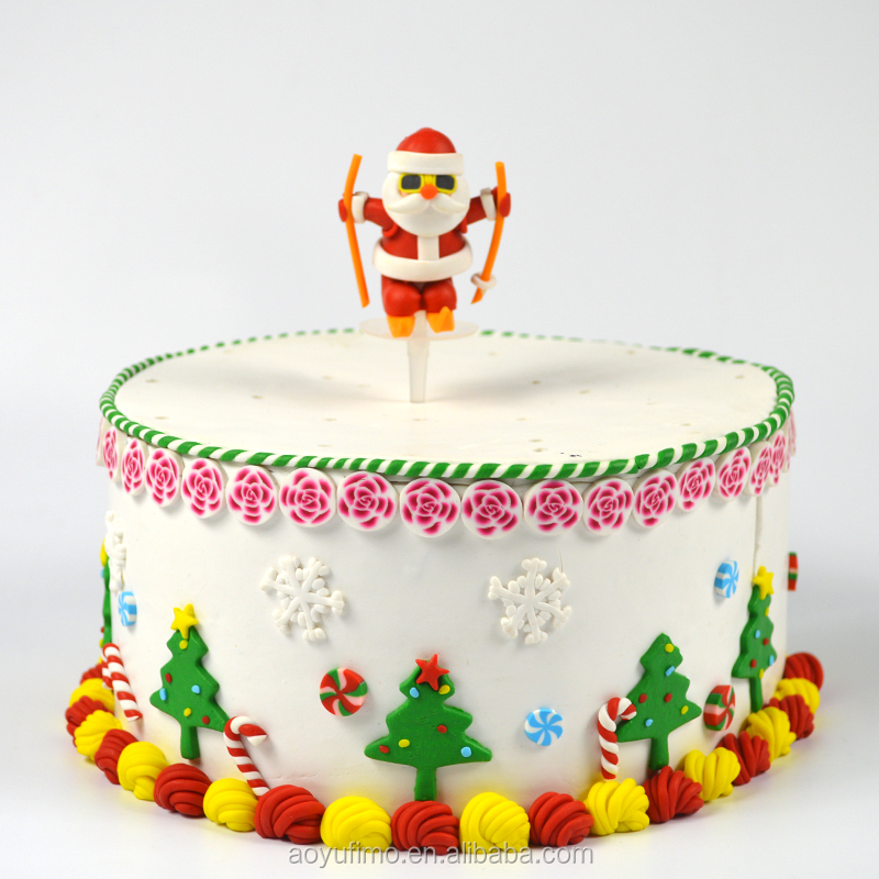 Xmas cake topper small chocolate cake recipe Kriss Kringle decoration