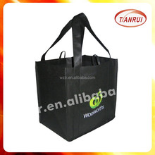 2015 high quality cheap recycle new style fashion bottle carrier laminated non-woven bags