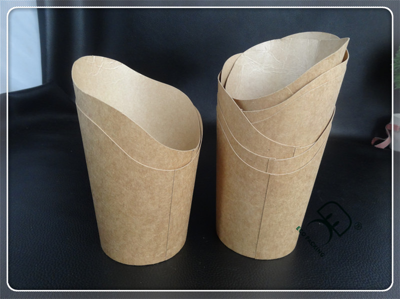 Disposable folding food grade cardboard paper french fries box