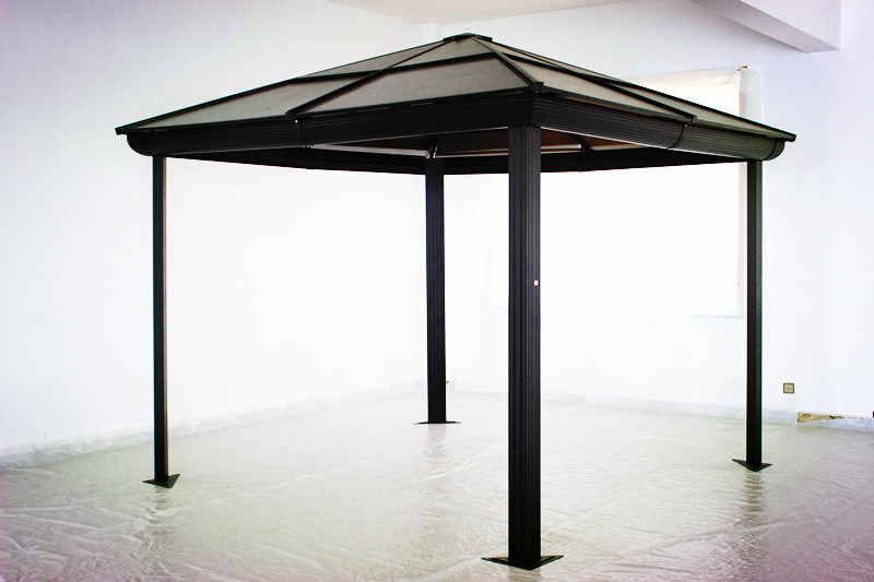 Polycarbonate roof aluminium metal gazebo buy metal gazebo with pc outdoor - Pergola alu polycarbonate ...