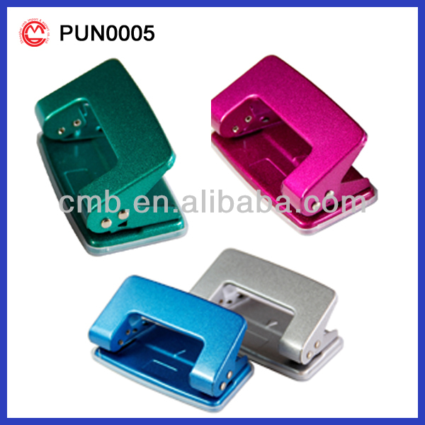 plastic PAPER PUNCH metallic colors 2 hole