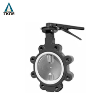 TKFM chinese supplier gear operation dn450 electric remote control butterfly valve lugged for sea water