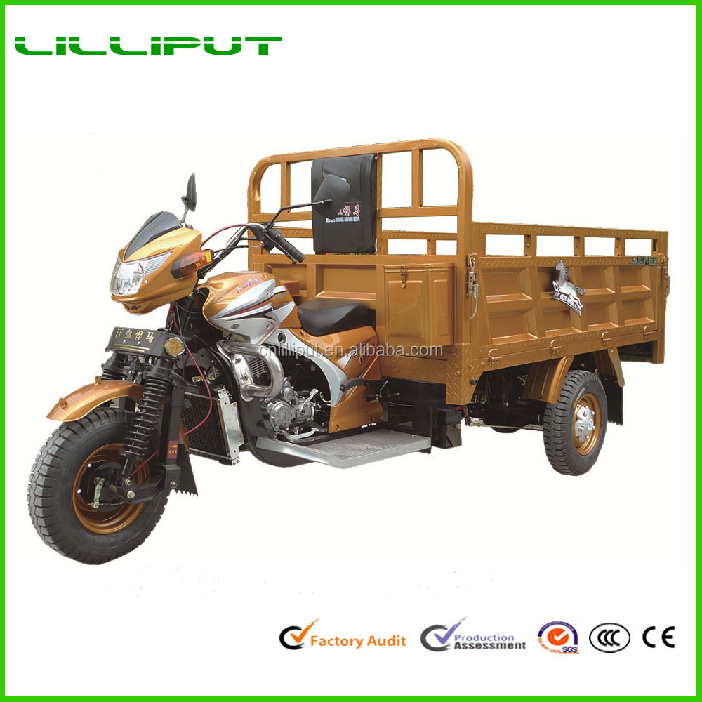 New Design Heavy Loading Big Power Water Cooled 3 Wheel Open Cargo Tricycle