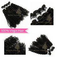 Good texture virgin indian curly black hair products wholesale