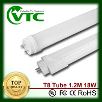 18W 2700-6500k milk white smd2835 1200mm t8 led 1.2m 4tube t8 fixture