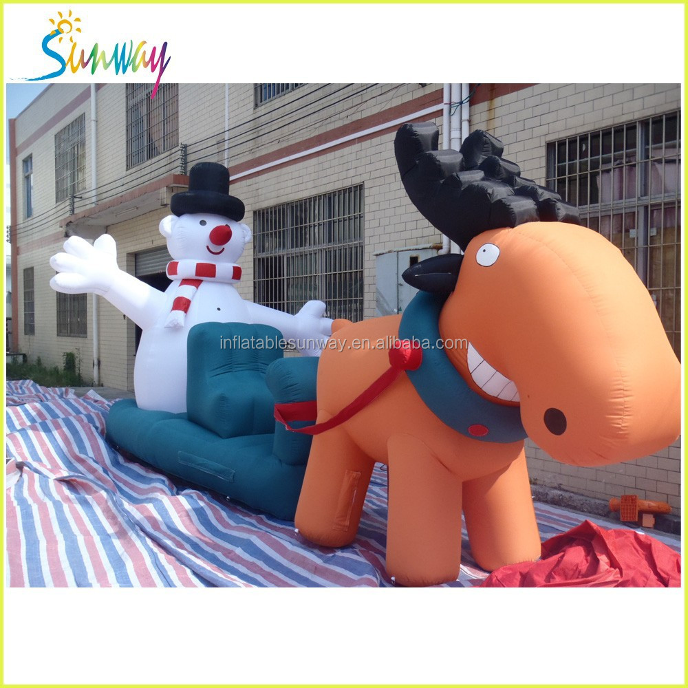lovely Christmas inflatable snowman, Christmas present/gift for decoration