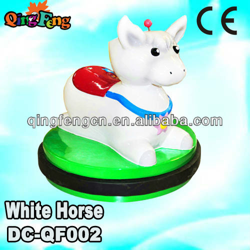 Qingfeng amusement rides electric riding toys battery operated plush horse