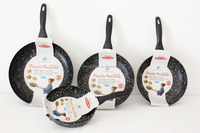 Pressed Aluminium Non-stick Marble Coating Frying Pan
