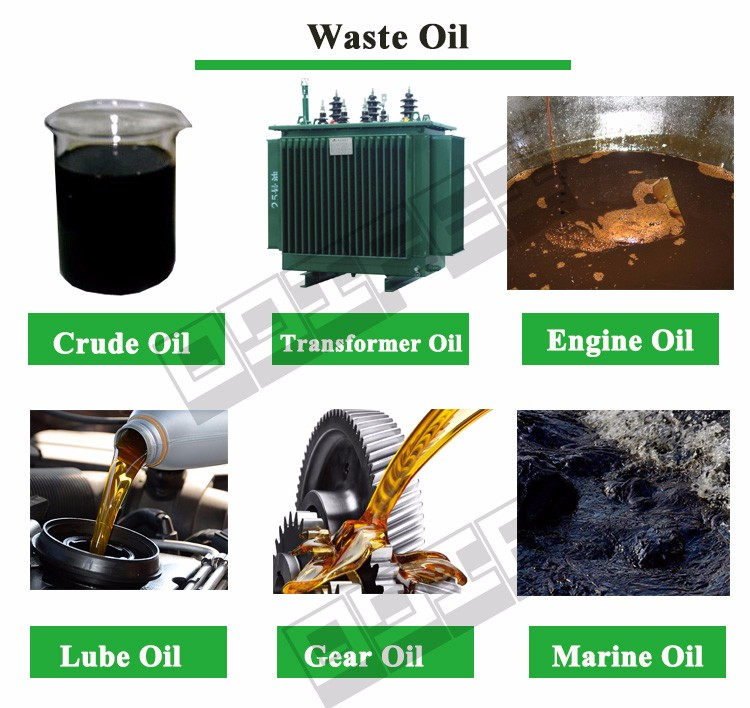 Used Car Motor Oil Distillation Refinery Machine/ Waste Engine Oil Recycling