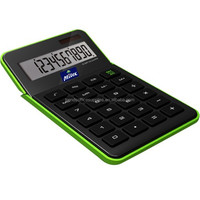 Wholesale price fancy solar panel calculator/promotion dual power desk top gift wave calculator with adjustable